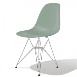 Herman Miller - Eames Shell Side Chair DSR (Sea foam Green, Silver)