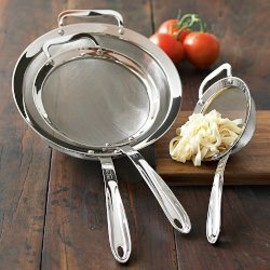 All-Clad - 3-Piece Stainless-Steel Strainer Set