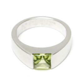 Cartier - Tank ring Peridot