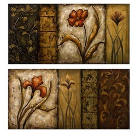 IMAX - IMAX Yvonne Collage Oil Paintings, Set of 2