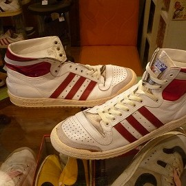 """adidas - 「<used>80's adidas TOPTEN HI white/red""""made in FRANCE"""" size:GB9/h(28cm) 19800yen」販売中"""