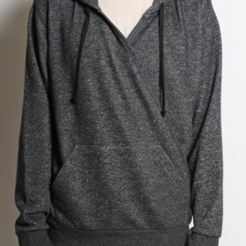 DRIES VAN NOTEN - 'Heybourne' Shawl Cross Hooded Sweat in Charcoal