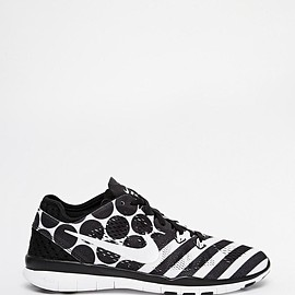 NIKE - Free 5.0 TR Fit 5 Black & White Print Trainers