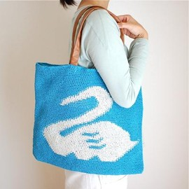 marble SUD - C-KNIT SWAN TOTE BAG