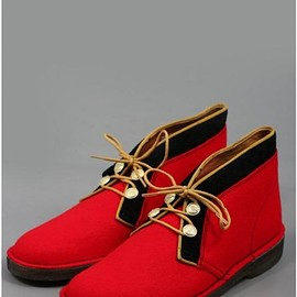 Clarks - Clarks x Hainsworth Rock Royalty Desert Boot Fabric Red