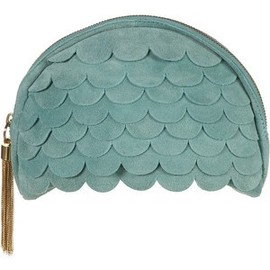 TOPSHOP - Scalloped Suede Clutch Bag