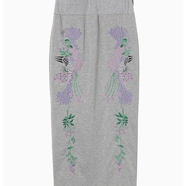 mame - Embroidery Jersey Skirt