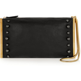 LANVIN - Private studded leather clutch
