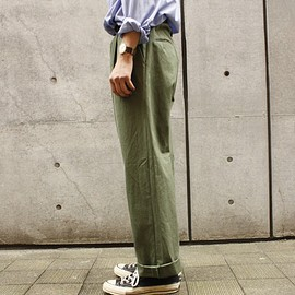 AURALEE - WASHED FINX TWILL WIDE PANTS
