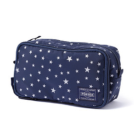 "HEAD PORTER - ""STELLAR (NEW)"" GROOMING POUCH NAVY"