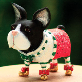 Patience Brewster - Mini Boston Terrier Ornament