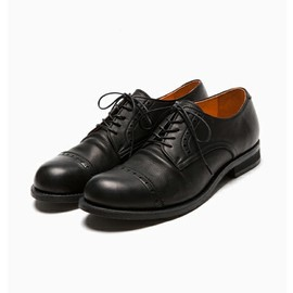 WATER PROOF SHRINK LEATHER / PLAIN TOE OXFORD SHOES