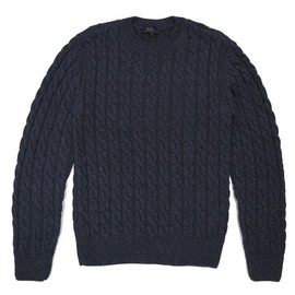 A.P.C. - A.P.C. CABLE SWEATER BLUE GRAY
