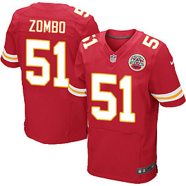 nike - Men's Kansas City Chiefs Nike NFL Elite Frank Zombo Red #51 Jerseys Home