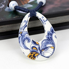 julyjoy - Oriental Obsession Handmade Ceramic Necklace- Plum Blossom