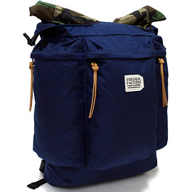 FREDRIK PACKERS - 500D ROLL TOP BACK PACK * navy x woodland camo