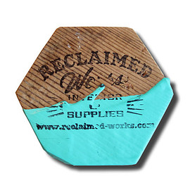Reclaimed Works - Reclaimed iphone Coaster / Dipped Paint & Splatter