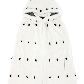 VALENTINO - Mink Cape With Summer Ermine Tips