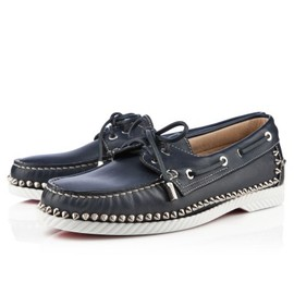 Christian Louboutin - Steckel Men's Flat Navy Leather