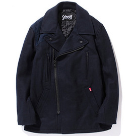 Schott, Stussy - Schott for Stussy - Military Pea Coat