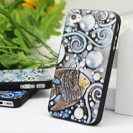 Luulla - Cool Summer Iphone4/4S Case with Embossment-The Fish