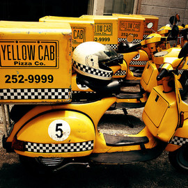 Vespa - Yellow Cab Pizza Co.'s Vespa Delivery Mopeds