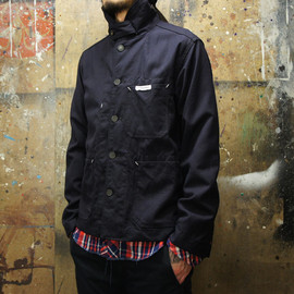 Engineered Garments - SHAWL COLLAR SHIRT JACKET Uniform Serge & HB