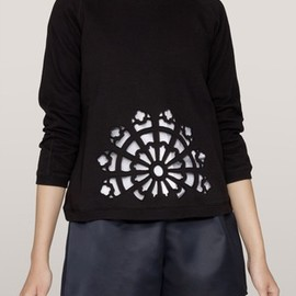 Carven - Carven Laser-cut cotton pullover