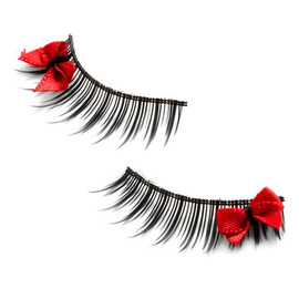 Look at Bows Eyes Lashes - Rockabilly, Black, Red, Bows, Prom, Party, Statement