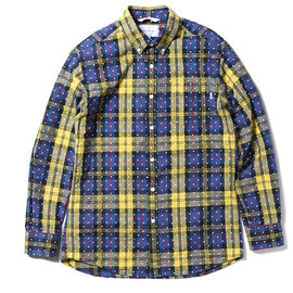 thisisneverthat - 【thisisneverthat】CHECK & DOT BUTTON DOWN SHIRT(BLUE-YELLOW)