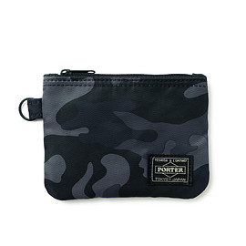 "HEAD PORTER - ""JUNGLE"" ZIP WALLET BLACK"