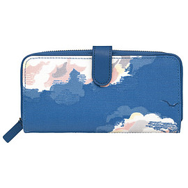 Cath Kidston - Clouds Large Boxed Leather Trim Wallet