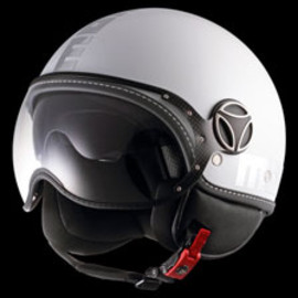 MOMODESIGN HELMETS - FIGHER - PEARL WHITE & CHROME