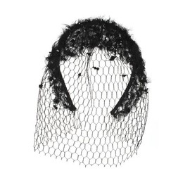 "MAISON MICHEL - ""Leslie"" hair band with veil"