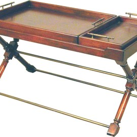 Accents Beyond Inc - 2 trays, Antique Mahogany finish
