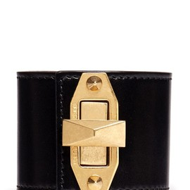 Alexander McQueen - STUD TURN LOCK LEATHER CUFF