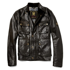 Belstaff - Brad Distressed Leather Jacket