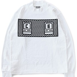 C.E - Bold Logo Turtle Neck Long Sleeve T(white)