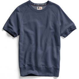 Todd Snyder, Champion - Mast Blue Short Sleeve Sweatshirt