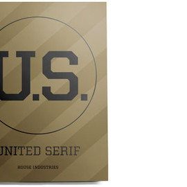 House Industries - Olive Drab United Serif Print