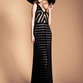TEMPERLEY LONDON - Long Ribbon & Tulle Dress
