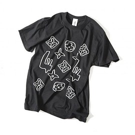 OMIYAGE by POURTON DE MOI - モノグラム TEE  BLACK