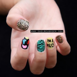nails - Jeremy Scott Inspired Nails (chelseaqueen.com)