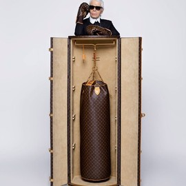 "LOUIS VUITTON, Karl Lagerfeld - ""Celebrating Monogram Collection"" Punching Bags &  Boxing Glove by Karl Lagerfeld"