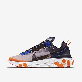 NIKE - Nike React Element 87 'Total Orange & Black & Thunder Blue'