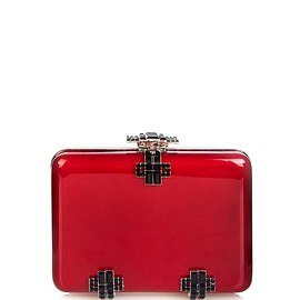Alexander McQueen - Deco crystal and lacquered-wood box clutch