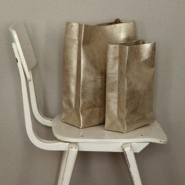 SACO DE PAPEL GRANDE antique silver