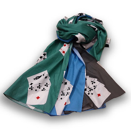 PEEL & LIFT - playing cards scarf
