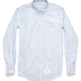 THOM BROWNE - Classic Striped Oxford Cloth Shirt