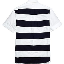 BLACK FLEECE BY Brooks Brothers - Oxford Stripe Back Short-Sleeve Button-Down Shirt